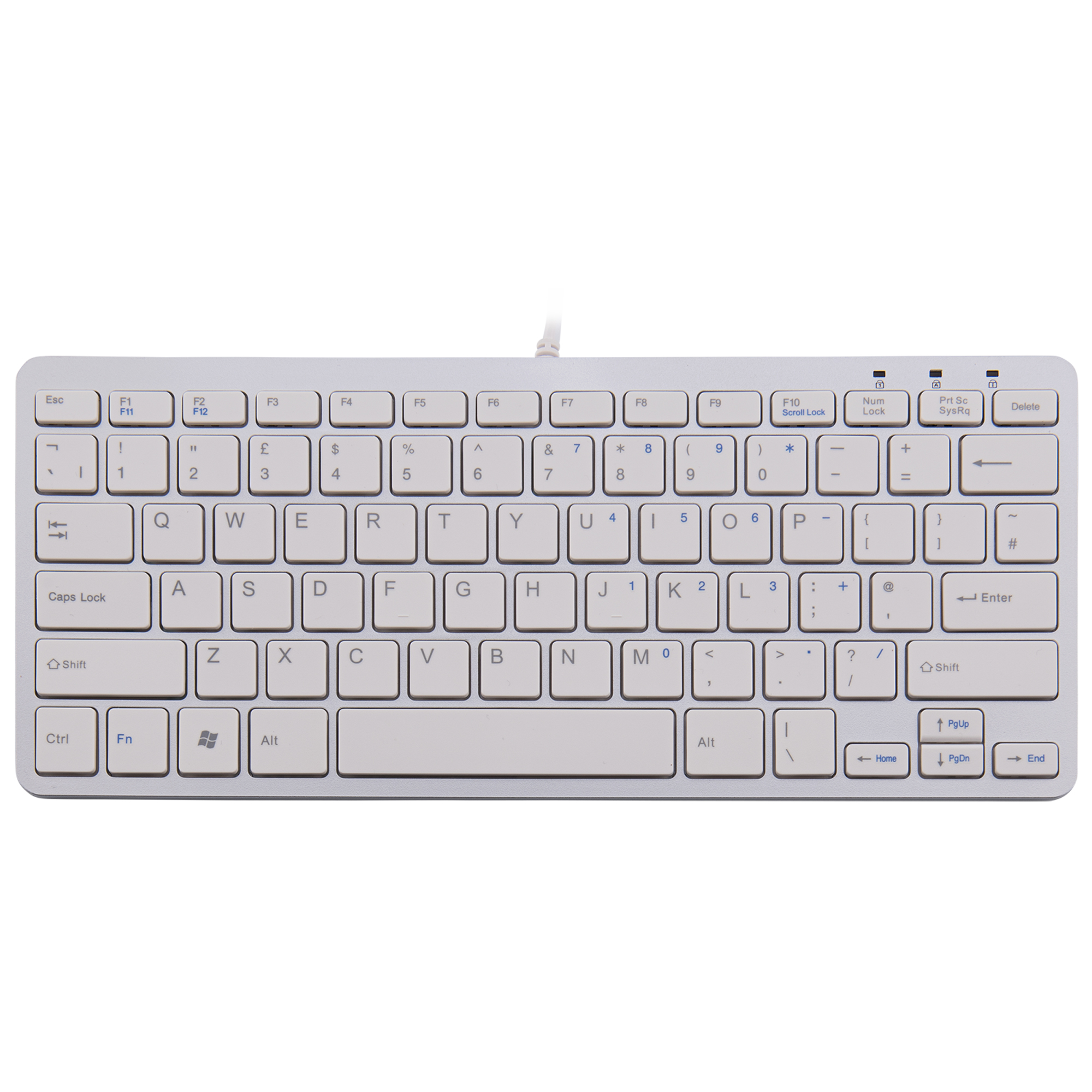 R-Go Clavier Compact, QWERTY (UK), blanc, filaire - 1