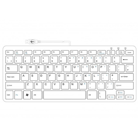 R-Go Clavier Compact, QWERTY (UK), blanc, filaire - 2